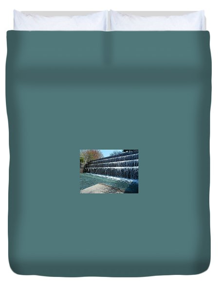 Duvet Cover featuring the photograph Waterfall Heaven by Emmy Marie Vickers