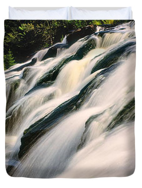 Waterfall In A Forest, Bond Falls Duvet Cover