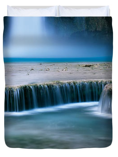 Waterfall In A Forest, Mooney Falls Duvet Cover