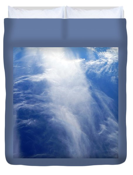 Waterfall In The Sky Duvet Cover