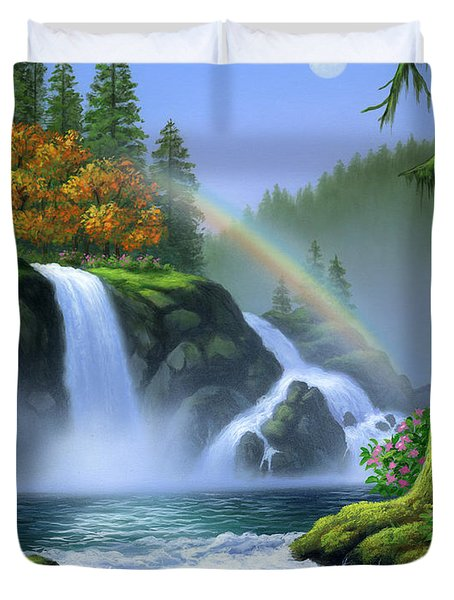 Waterfall Duvet Cover by Jerry LoFaro