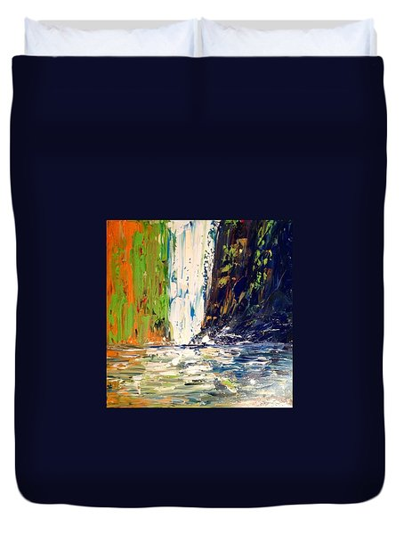 Waterfall No. 1 Duvet Cover