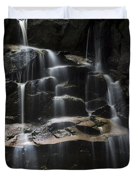 Waterfall On Small Stream Duvet Cover by Dan Friend