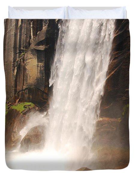 Waterfall Rainbow Duvet Cover by Mary Carol Story