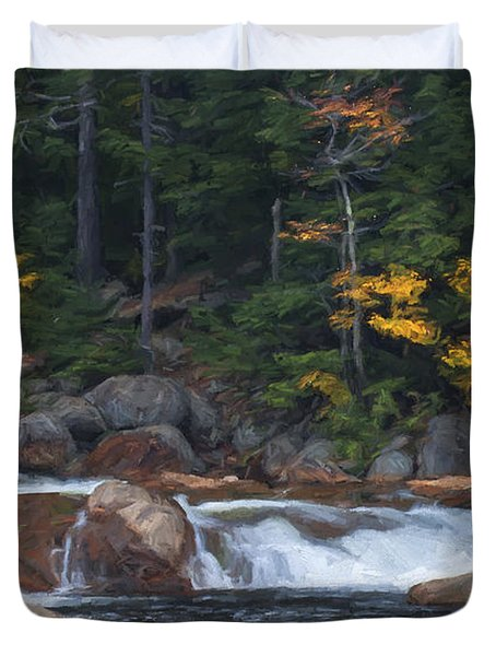 Waterfall - White Mountains - New Hampshire Duvet Cover