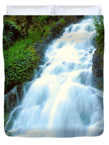 Waterfalls In Golden Gate Park Duvet Cover