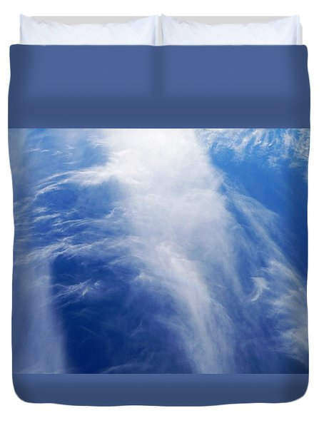 Waterfalls In The Sky Duvet Cover