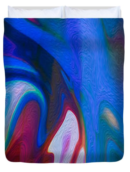 Waterfalls Of Desire Duvet Cover by Omaste Witkowski