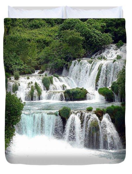 Waterfalls Of Plitvice Duvet Cover