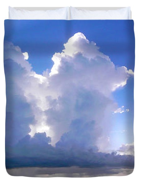 Waterfalls Over Florida Bay Filtered Duvet Cover