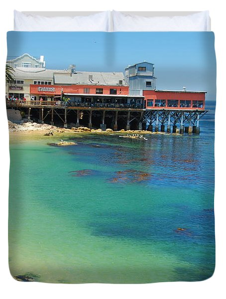 Waterfront At Cannery Row Duvet Cover