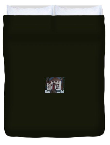 Historic 7th Street Home In Menominee Duvet Cover