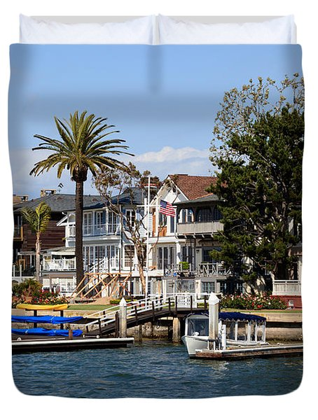 Waterfront Luxury Homes In Orange County California Duvet Cover by Paul Velgos