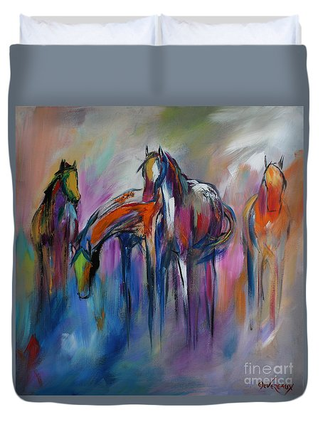 Watering Hole Duvet Cover by Cher Devereaux