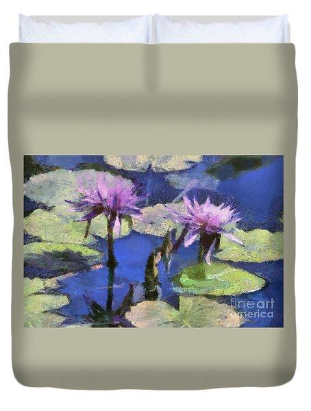 Waterlilies Duvet Cover by Teresa Zieba