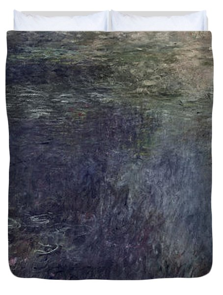 Waterlilies, The Clouds Duvet Cover