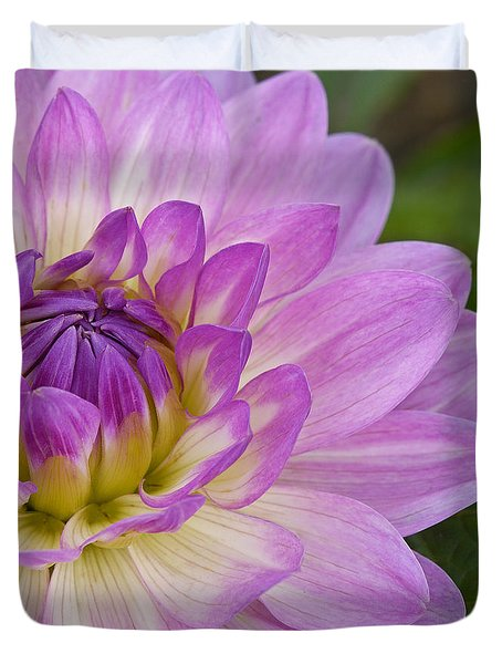 Waterlily Dahlia Duvet Cover