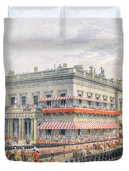 Waterloo Place And Pall Mall Duvet Cover