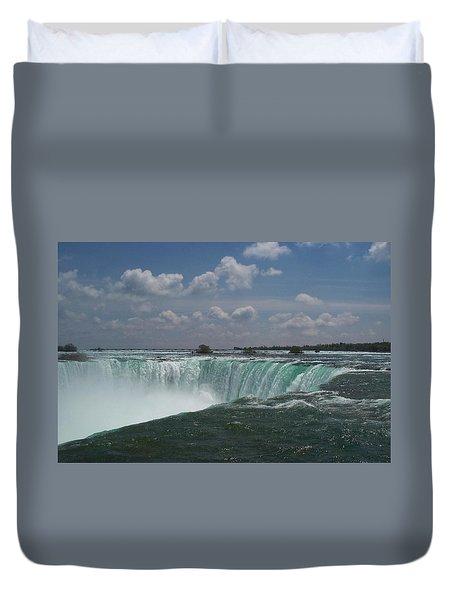 Duvet Cover featuring the photograph Water's Edge by Barbara McDevitt
