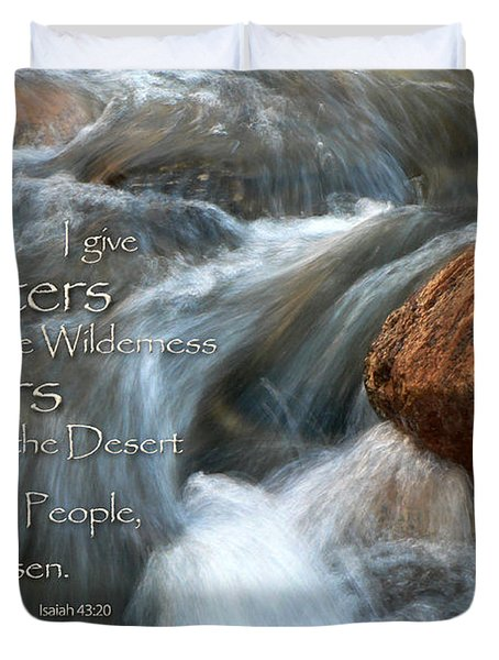 Waters In The Wilderness Duvet Cover