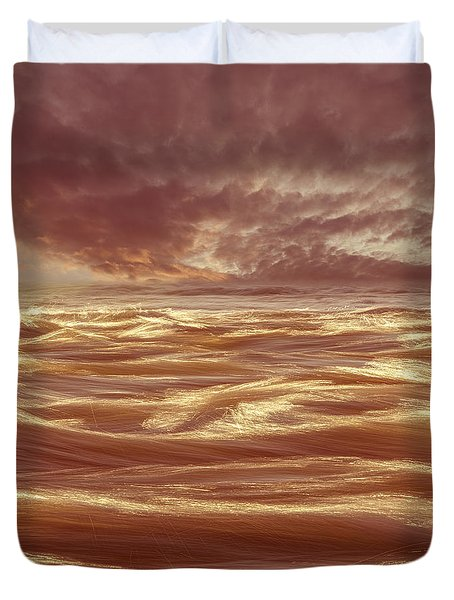 Waterscape Number Seven Duvet Cover by Bob Orsillo