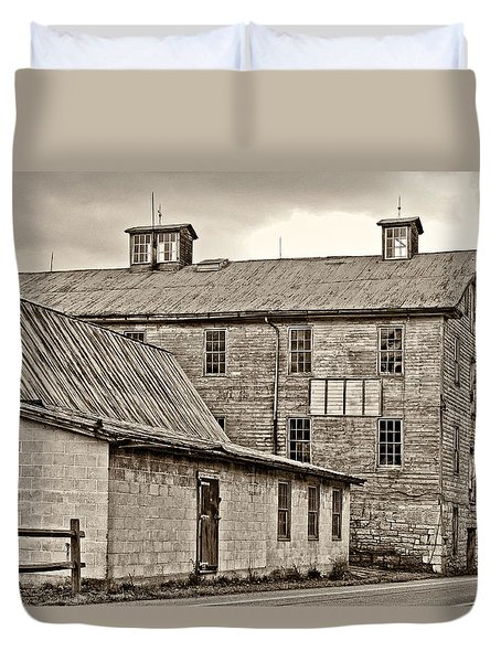 Waterside Woolen Mill Duvet Cover by Steve Harrington