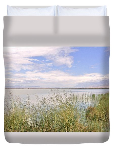 Duvet Cover featuring the photograph Waterworks by Marilyn Diaz