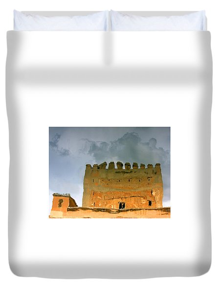 Duvet Cover featuring the photograph Watery Alhambra by Rick Locke