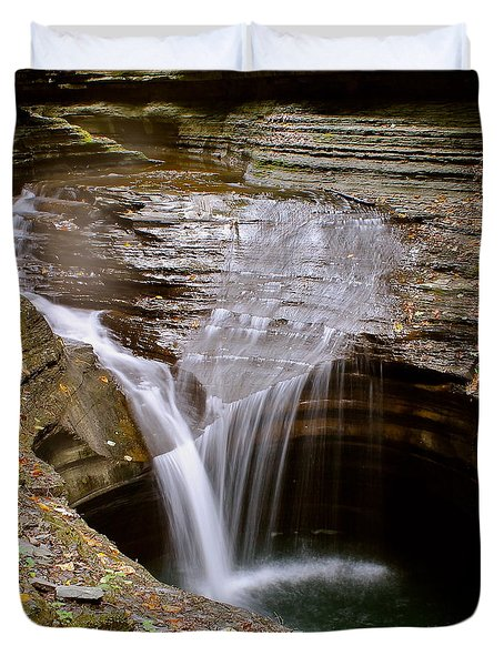 Watkins Glen Pool Duvet Cover