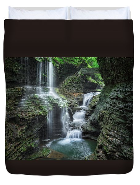 Watkins Glen Duvet Cover by Bill Wakeley