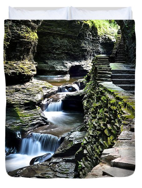 Watkins Glen State Park Duvet Cover by Frozen in Time Fine Art Photography