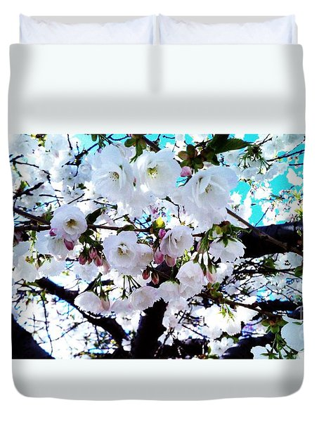 Duvet Cover featuring the photograph Blanche by Vanessa Palomino