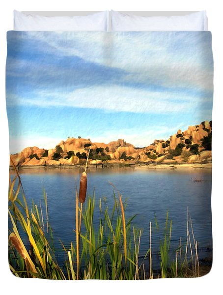 Watson Lake Duvet Cover by Kurt Van Wagner
