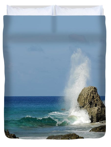 Wave At Boldro Beach Duvet Cover