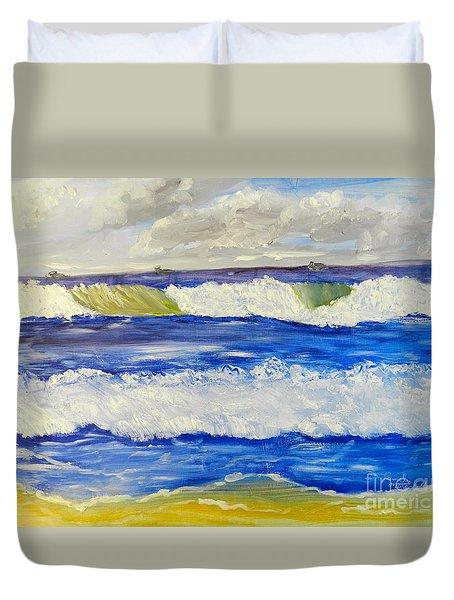 Wave At Bulli Beach Duvet Cover