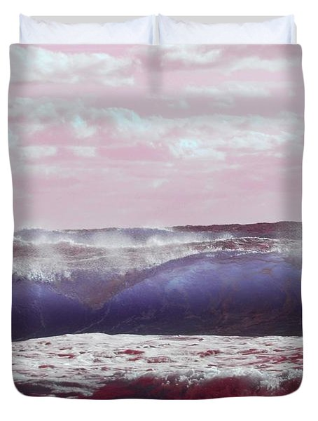 Duvet Cover featuring the photograph Wave Formation 2 by Anthony Wilkening