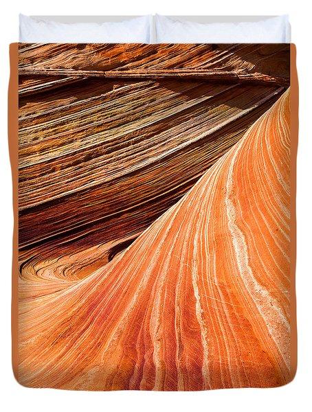 Wave Lines Duvet Cover by Chad Dutson