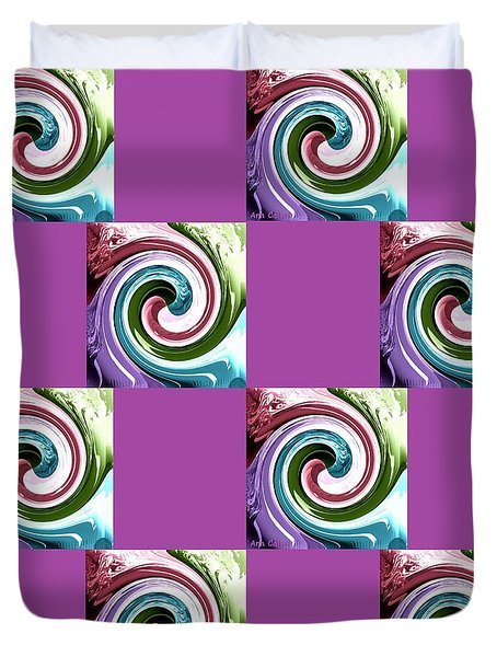 Wave Of Purple 2 Duvet Cover