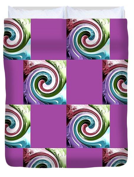 Wave Of Purple 2 Duvet Cover