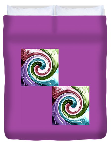 Wave Of Purple Duvet Cover