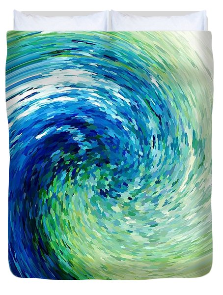 Wave To Van Gogh Duvet Cover