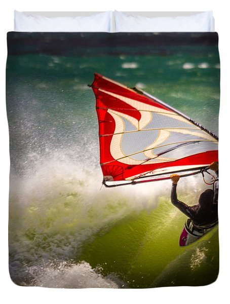 Waverider....  San Simeon Duvet Cover