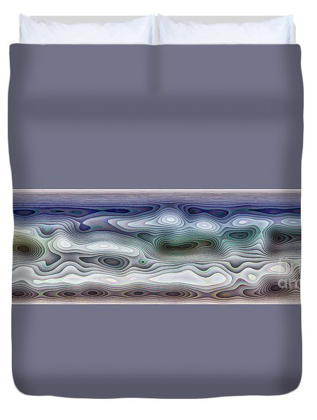 Abstract Waves 15 Duvet Cover