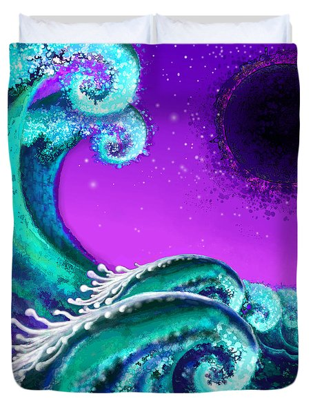 Waves Duvet Cover by Carol Jacobs