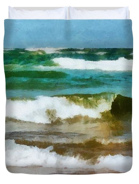 Waves Crash Duvet Cover