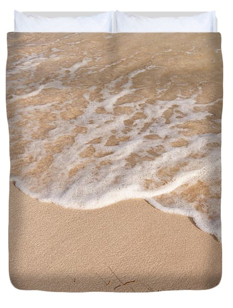 Waves On The Beach Duvet Cover by Adam Romanowicz