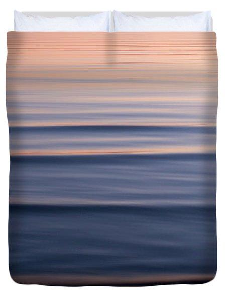 Waves On The Great Salt Lake Duvet Cover