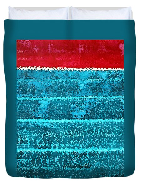 Waves Original Painting Duvet Cover