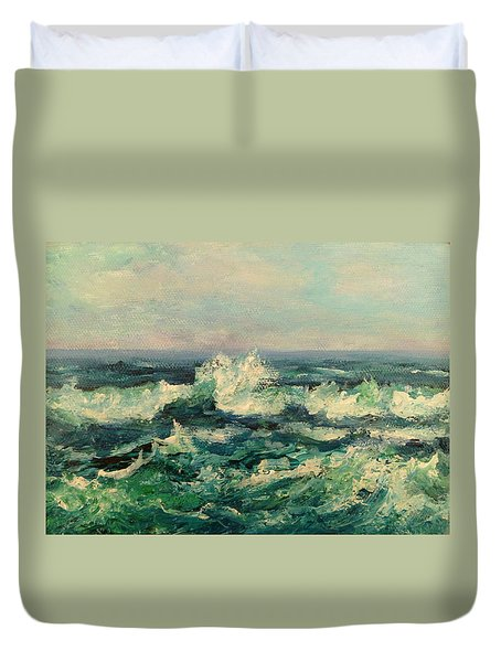 Waves Painting Duvet Cover