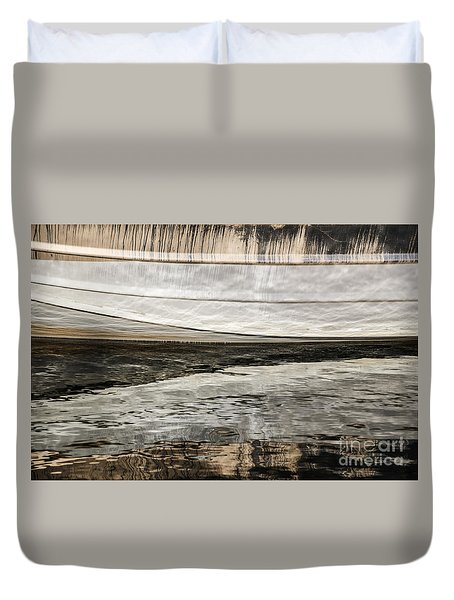 Wavy Reflections Duvet Cover by Sue Smith